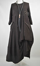 FAB GERMAN ZEDD.PLUS quirky/lagenlook CHOCOLATE  parachute dress XL/XXL