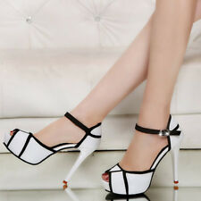 Women Fashion Open Toe High Heel Stiletto Ankle Strap Pump Sandals Party Shoes