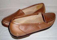 SAS Simplify Tripad Comfort Bronze Leather Loafers Moccasins Slip On Shoes 10