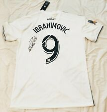 2018 Zlatan Ibrahimovic Signed LA GALAXY Soccer Jersey HOME MLS w Proof Man U