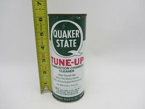 VTG FULL RARE 15 Oz QUAKER STATE TUNE-UP MOTOR ENGINE METAL CAN GAS OIL STATION