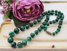 VINTAGE MALACHITE NECKLACE - COSTUME JEWELLERY