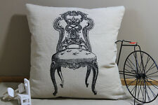 Zakka Vintage Cotton Linen Cushion Cover Home Decor Chair