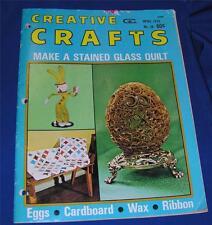 VTG 11974 EASTER CRAFT MAGAZINE/BOOK, HOW TO MAKE RIBBON ANIMALS, FELT BUNNIES