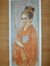 Shizue's Daughter on Canvas - Hand Signed & Numbrd Giclee by Edna Hibel - LTD ED