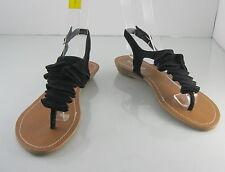 Verano Negro 2.5cm Tacón bajo Zapatos Mujer Romano Sandalias Estilo Gladiador
