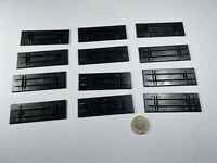 X16 HO 12 STK Herpa Platte Bodenplatte Boden f Kofferaufbau schwarz Unterteil