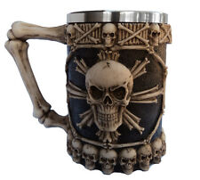 Gothic Skull Skeleton Bone Large Size Drinking Tankard Mug Fantasy Gift Ornament