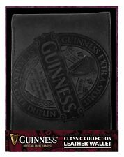 Guinness Black Leather Wallet With Classic Collection Label Design
