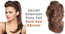 """Secret Extensions Daisy Fuentes 22"""" Pony Fall Synthetic Hair Dark Red & Brown"""