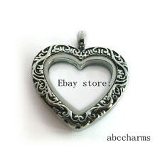 new style Vintage Heart floating charm locket living memory locket