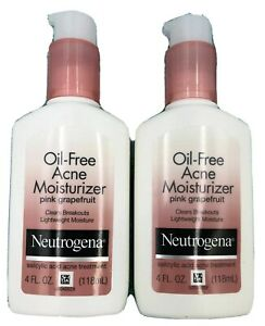 2x NEUTROGENA OIL FREE ACNE LIGHTWEIGHT MOISTURIZER PINK GRAPEFRUIT TREATMENT