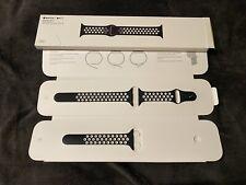RAR! Original Nike Apple Watch 40mm 38mm Sport Armband Silikon Black/White Band