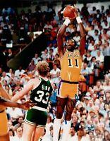 Bob McAdoo Signed 8X10 Autograph Photo Los Angeles Lakers Shooting over Bird COA