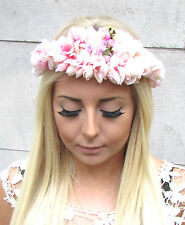 Blush Pink Blossom Flower Headband Headpiece Garland Hair Crown Festival 1354