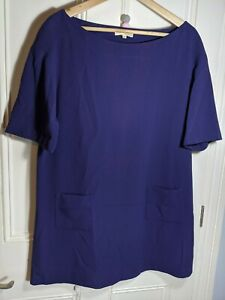 Ba&sh tunic dress  UK 10-12 (Size 2) purple lined with pockets short sleeves