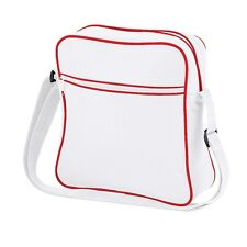 Mens Womens Kids White Retro Shoulder Flight bag- Man Bag, Plane Hand Luggage