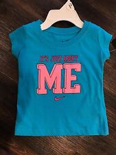 NWT NIKE BABY GIRLS 3-6 MONTHS BLUE PINK T-SHIRT - it's just about me - NEW
