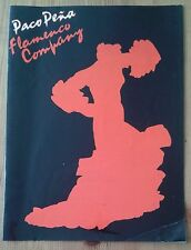 Paco Pena Flamenco Company 'Spanish Fiesta' programme Royal Albert Hall 1989