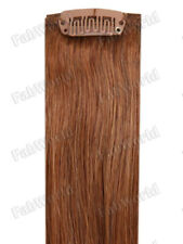 """Halo 20"""" 12 Pieces Deluxe Clip-In Extension 100% Remy Human Hair #6 Light Brown"""