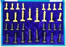 Wooden Chess Set with Board Hand Carved undercut Antique sandalwood Chess Set