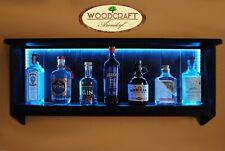 Ginregal - Bar - Gin - LED Beleuchtung - Farbton: Ebenholz / inkl. Fernbedienung