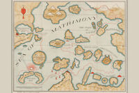 Sea of Matrimony 1906; Antique Allegorical Map; Great Wedding Gift