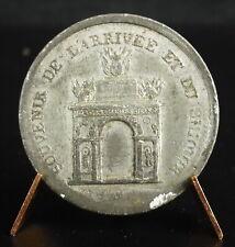 Médaille jeton Starsbourg 7 septembre 1828 souvenir de l'arrivée de Charles X