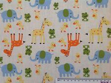 Print Fabrics (giraffe, elephant, duck, frog) per meter
