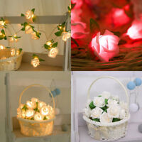 20LED Rose Flower Xmas String Lights Fairy Wedding Christmas Party Garden Decor