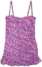 New Women's Christina One Piece Swimdress Fauxkini Swimsuit Size 14 $108