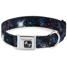 "Buckle Down Seatbelt Buckle Dog Collar - Galaxy Collage - 1"" Wide - Fits 9-15"" N"