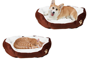 Coffee Cotton Waterloo Pet Pad Bed Washable Soft Comfortable Bedding Dog Cat