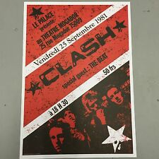 THE CLASH + THE BEAT - CONCERT POSTER FRANCE 25th SEPTEMBER 1981 (A3 SIZE)