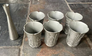 Pewter Cups and Bud Vase