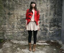 Rare Topshop Red Marching Band Military Jacket Size 10