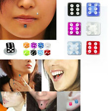 Magnetic Illusion No Piercing Stud 7 Colors 4mm UV Dice Labret Lip Nose Helix US