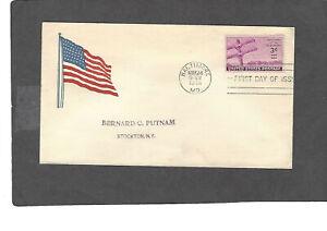 #924 3c TELEGRAPH ISSUE FDC WASHINGTON,DC MAY 24-1944 PATRIOTIC