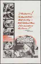 A BOUT DE SOUFFLE BREATHLESS 1 sheet movie poster 27x41 GODARD BELMONDO SEBERG