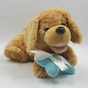 "Chantilly Lane Buddy The Golden Retriever Count On Me Singing Baby 12"" Toy Dog"