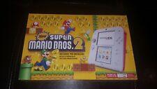 Nintendo 2ds SUPER MARIO BROS.2 in Scarlet Red, NEW