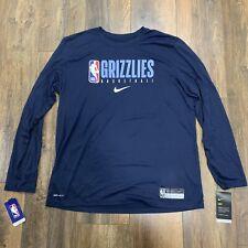 Men's Nike NBA Memphis Grizzlies Team Issued Practice Warm-Up DriFit T-Shirt XL