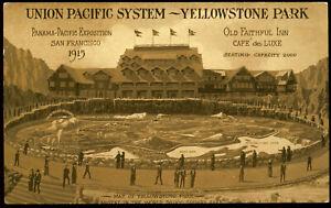 UNION PACIFIC - YELLOWSTONE PARK 1915 SAN FRAN EXPO POSTCARD