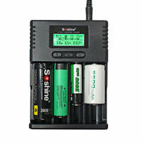 SoShine SC-H4 LCD Universal charger for 26650 18650 16340 14500 AA AAA C battery