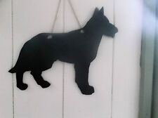 GERMAN SHEPHERD DOG SHAPED chalkboard blackboard birthday Christmas pet puppy a