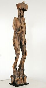 Terrific Sakalava statue, burial object, Madagascar, 19th century! Rare!