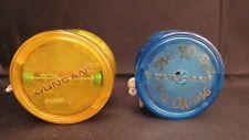 Pair of Vintage Mel-Yo-Dee Yo Yo's, Blue & Gold