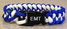 EMS/EMT/PARAMEDIC~Stylish 2 Color Jaw Bone 550 Paracord Bracelet~Fire Department
