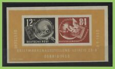 Germany 1950 Philatelic Exhibition (DEBRIA), Leipzig miniature sheet hinged