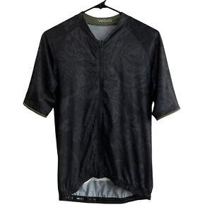 Velocio Men's Luna Floral Special Edition Jersey L Large Black Full Zip Pocket
